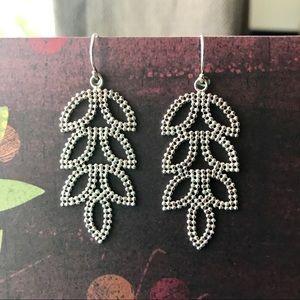Blue Nile Leaf Chandelier Earrings